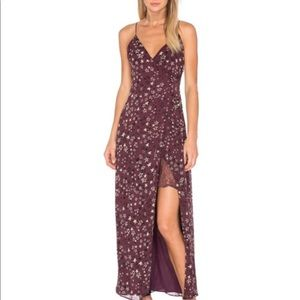 House of Harlow Purple Maxi Wrap Dress